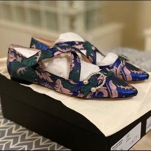 JCrew Dress Flats - Brocade Marina